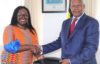 New UNDP Uganda representative presents credentials to Gov't
