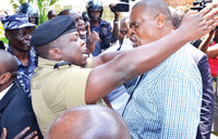 Police halts activists' press conference