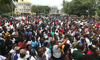 Liberia protesters 350x210