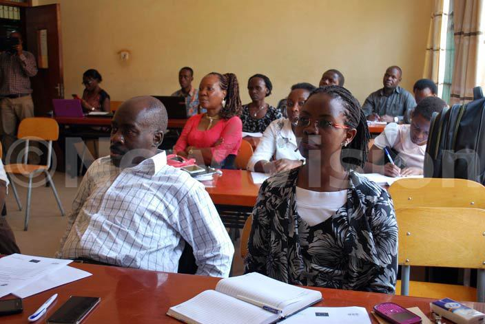 articipants during the launch of the learning entre for ood cience students at akerere niversity hoto by gnes antambi