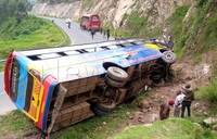 Kisoro bus accident injures two, driver arrested