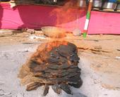 dung-fire
