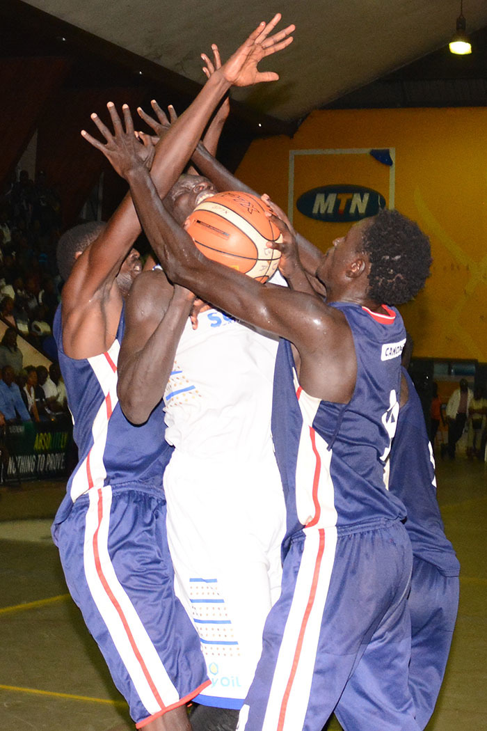 ity ilers ames kello center is blocked by the  defense during game four of the finals hoto by ichael subuga