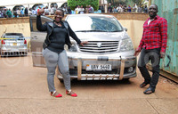 Police hands over recovered car to Lutaaya