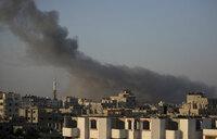 Gaza rocket 'intercepted' over Tel Aviv