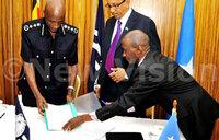 Uganda, Somali police sign MOU to counter terrorism