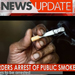 Public smokers to be arrested