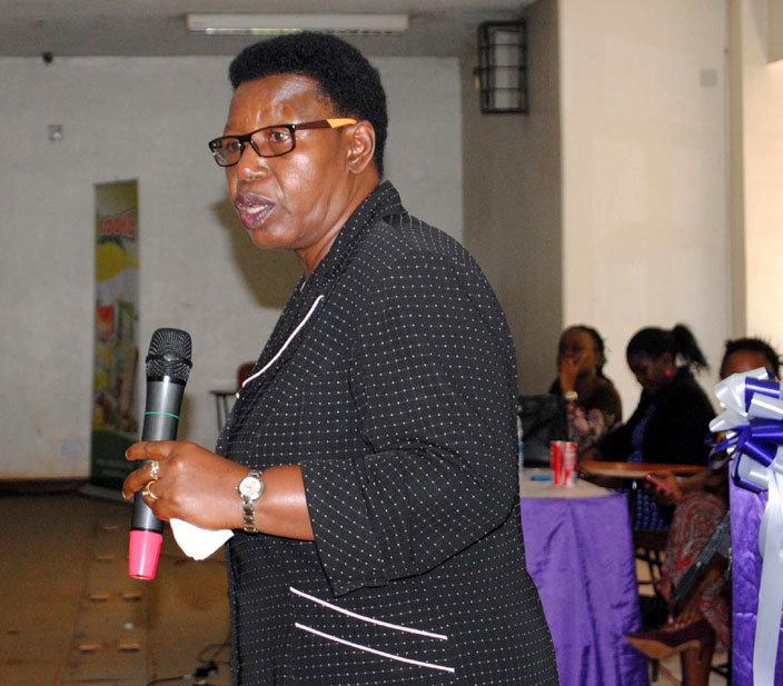ormer inister of thics iria atembe addressing university students from 8 niversities in ganda during nter niversity outh onference on ender at akerere niversity on 1032016photo by ary ansiime