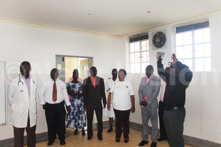 erere health entre  staff and mref officials tour  the renovated modern theatre