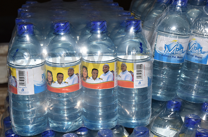 he branded water which was served to guests at the wedding