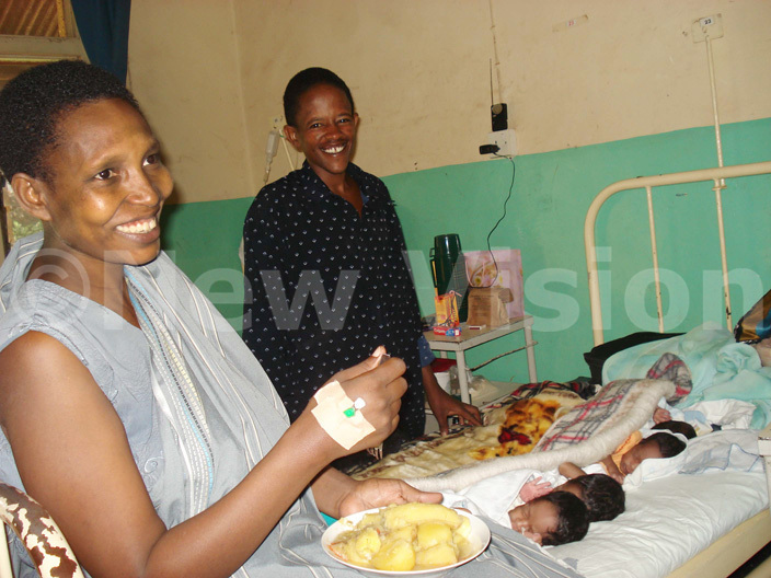 ary and eorge akuru at sambya ospital with their new babies back in 2008