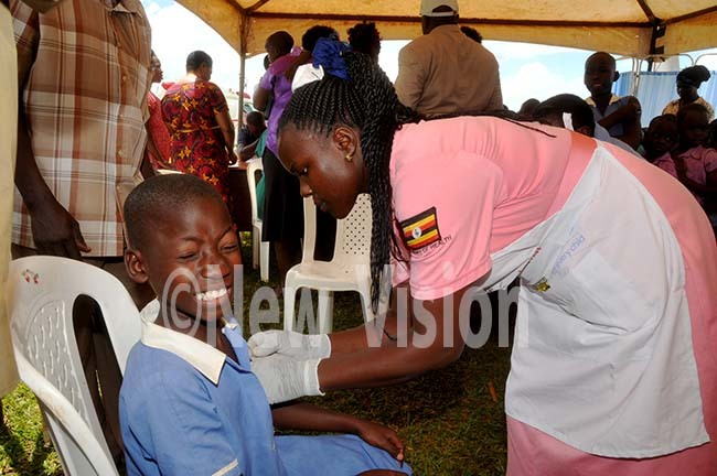 young girl getting immunized against easlesrubella in ayuge recently he ational wide campaign against measlesrubella kicked off on onday ctober 14 2019 hoto by onald iirya