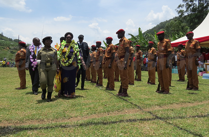 arooro inspects a parade during celebrations hoto by ob amanya