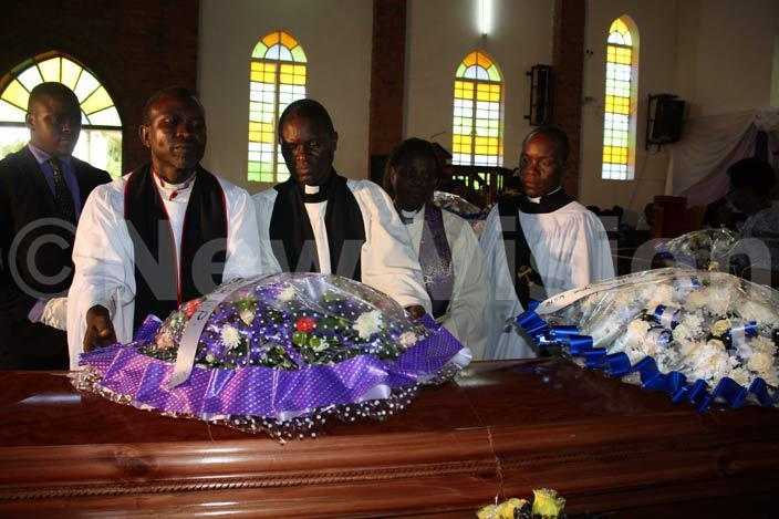 embers of the clergy pay their last respects to a man who served the church and was eulogised for his generosity hoto by achael wagala