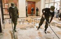 UPDF, PRAU in Kawempe hospital clean up exercise