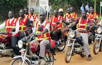 Fearful motorcyclists use polythene bags to save accident victims