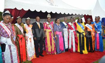 Tb2 kabaka mutebi and queen sylvia nagginda pose for a photo with the buganda tourism beauty queensa 350x210