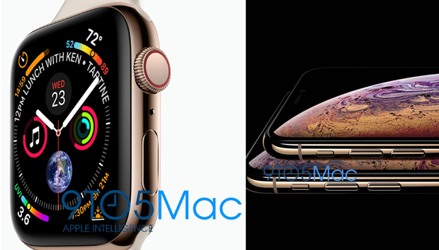 Leaked images show two iPhone XS models and Apple Watch Series 4
