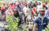 In pictures: Minister Butime receives heroic welcome at Kyenjojo