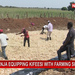 Kayanja equipping kifeesi boys with farming skills