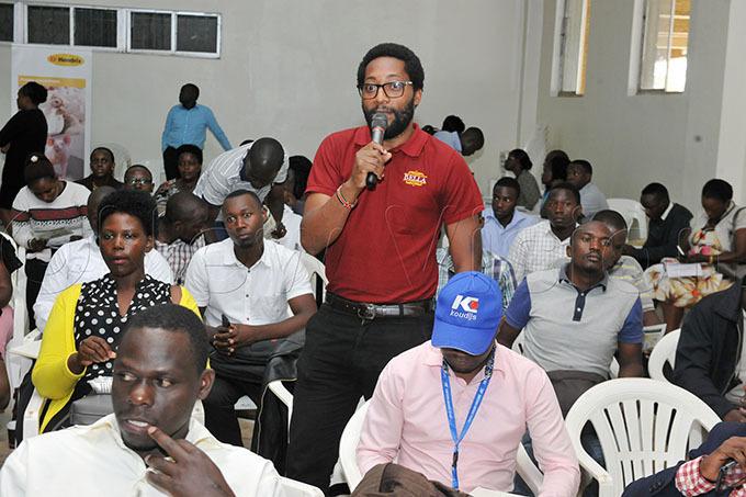 rian yarugaba ella ines marketing officer speaks photo by lfred chwo