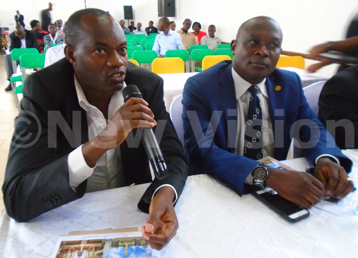 usiness mogul aesar ulenga contributes to the project discussion during the function