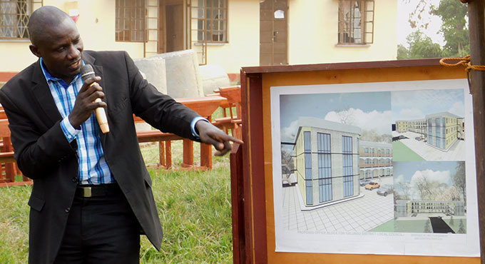 ichard yabaggu the alungu 5 chairperson unveils a multimillion administration building plan