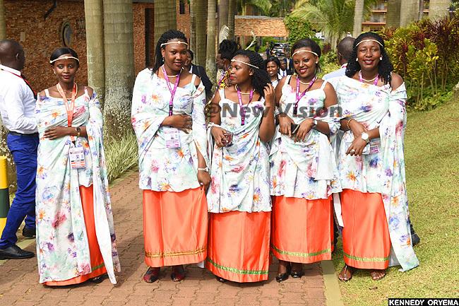 ntertainers dressed in inyarwanda dresses