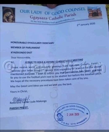 document granting obi ine permission to hold his meeting