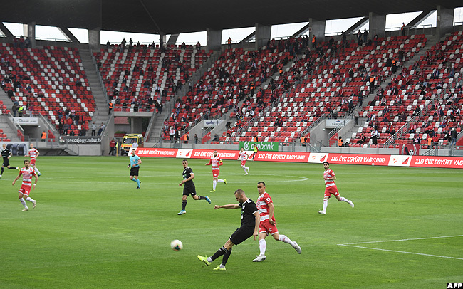 aturday action between  and ezokovesd in the  stadium in iskolc town