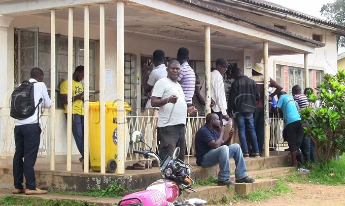 ukono residents camped at the s office waiting for the clearance documents hoto by enry subuga