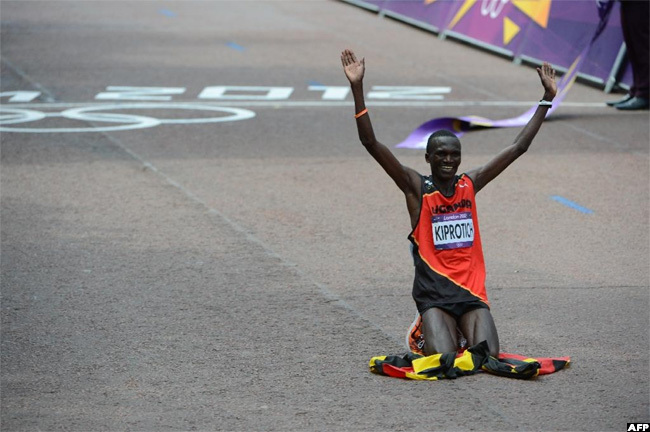 tephen iprotich won an lympics marathon gold in 2012