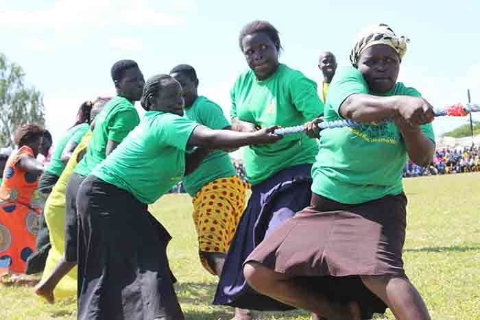 omen of welo sub county participating in the tug of war game in molatar district icture y ichael nyinge