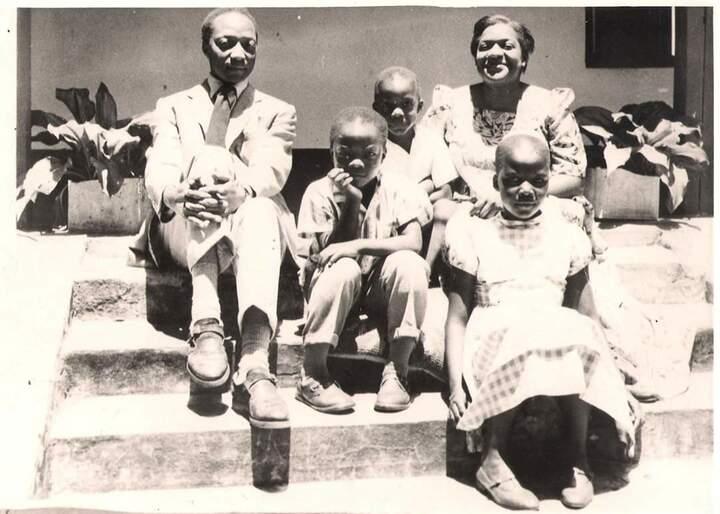 Prince Ronald Mutebi II with his brother Richard Walugembe and his sister Princess Dina Kaga with their parents Kabaka Edward Mutesa II and Namasole Sarah Nalule Kabejja.
