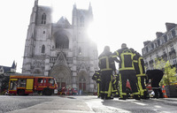 'Major fire' hits cathedral in French city of Nantes