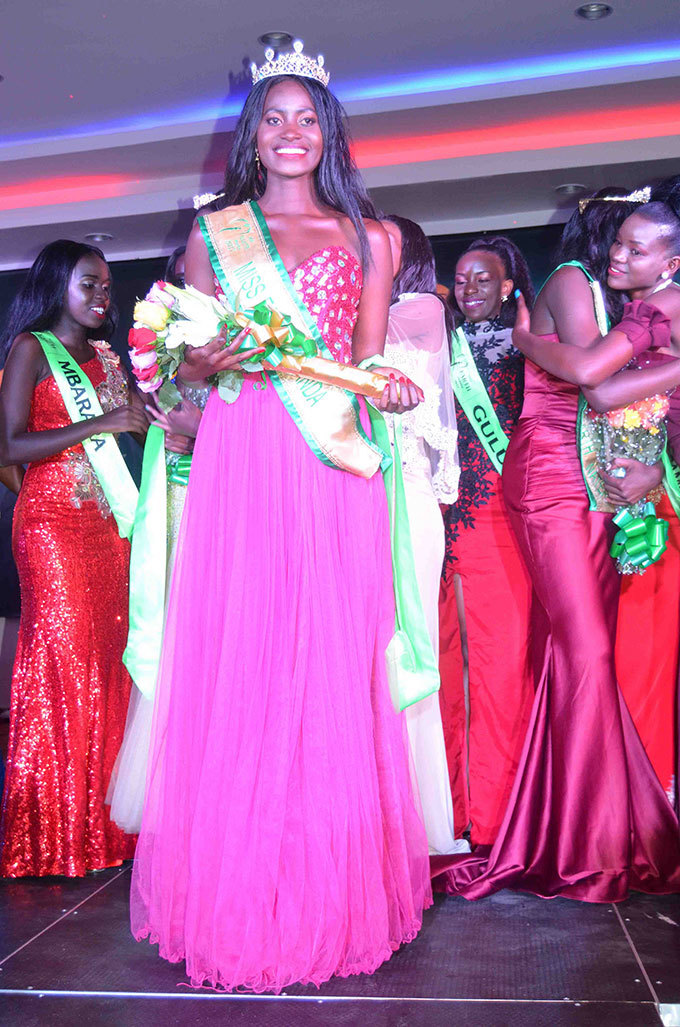 osephine utesi abirye after being crowned as iss arth ganda 2017