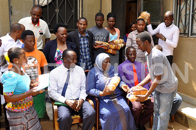 ukwaya receiving bread made by azo ngola central youth bakery