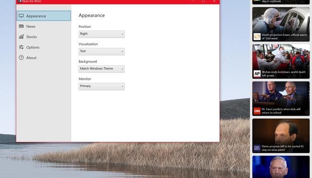 Microsoft adds a News Bar app as part of its latest Windows Insider update