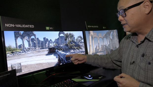 Here's what happens when using a GeForce GPU with a non-validated FreeSync monitor gets ugly