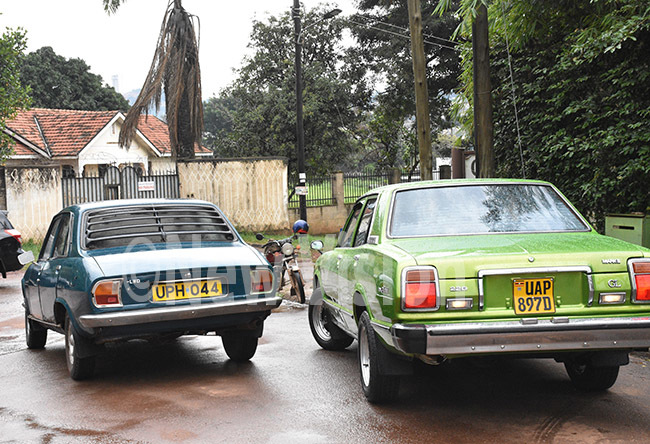 ome of the intage lassic cars  lined up at lugogo  before heading to oima for the otal abalega ally  due  ctober 1720  in oima