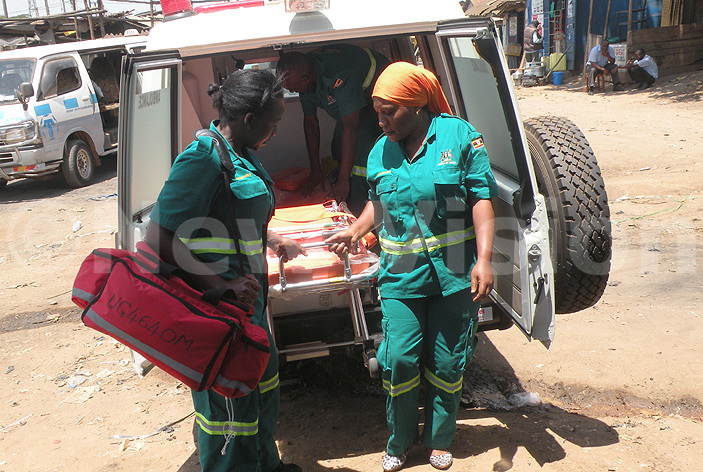 mbulance officers at weyogerere police post hoto by amadhan bbey