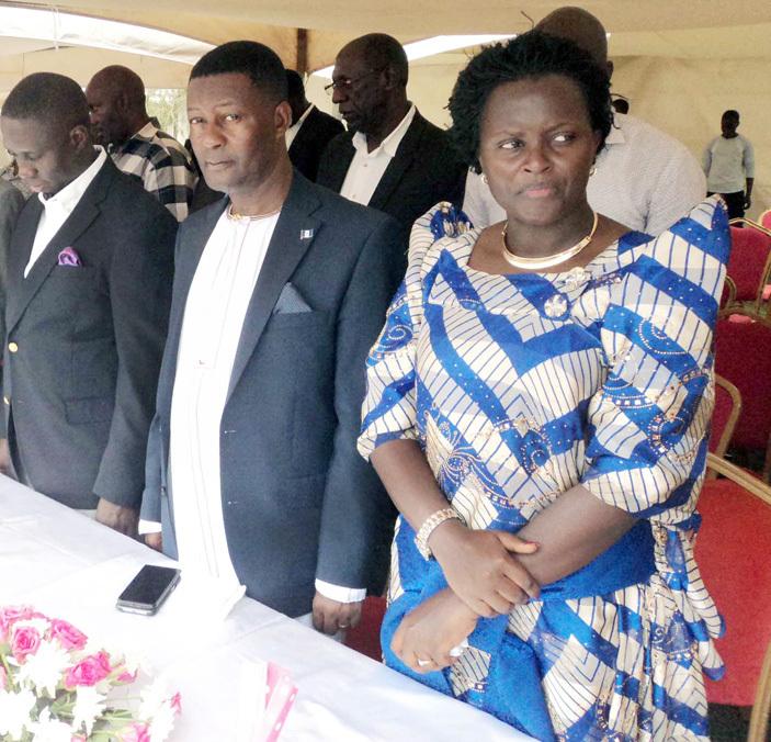 eft to right s ohammed sereko uyanja sennyonga and ydia irembe at the function