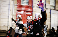 Tensions flare in French protests over pension
