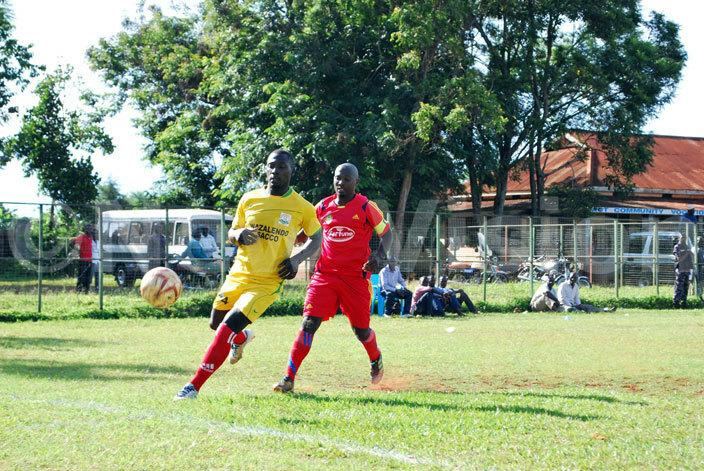 captain ugustine sumba runs after imba  s defender at akindu stadium on uesday