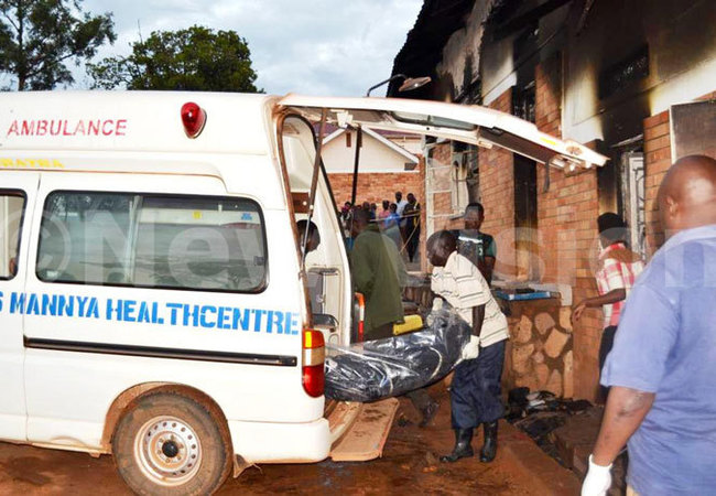 odies t ernards anya  fire victims being taken to ulago ospital for  tests before they are given to relatives for burial