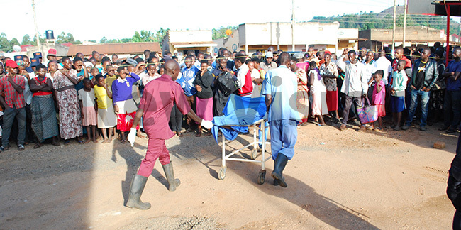 he security guards body was taken to t mbroze harity health center ortuary hoto by ndrew usinguzi