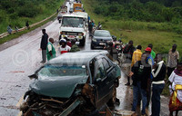 Fatal accident paralyses Mityana Road
