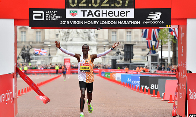 enyan liud ipchoge is the holder the current world marathon record