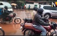 Heavy afternoon downpour leaves Kampala roads flooded