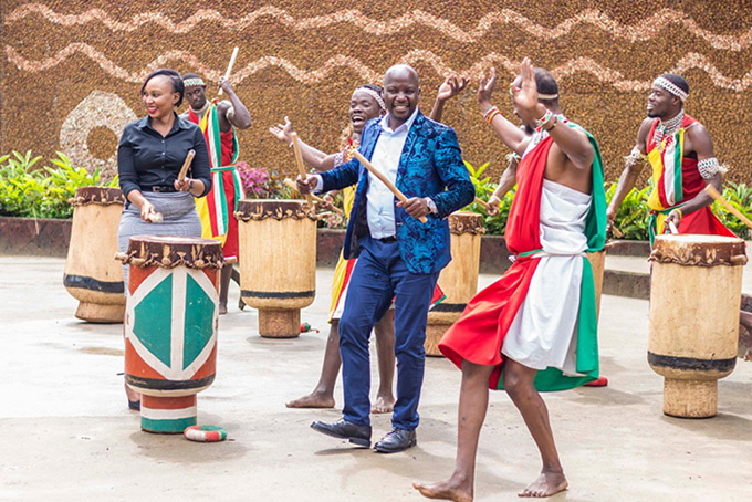 on iwanda dancing during the launch at dere enter with the troupe ourtesy photo